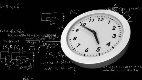 Equations and a clock Animation