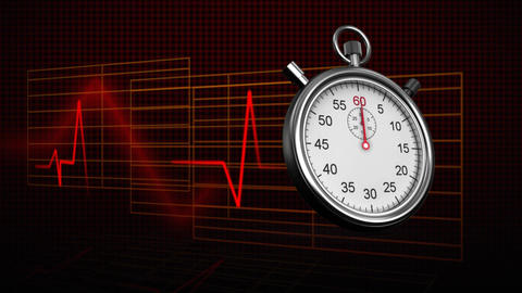Stopwatch and heart rate Animation