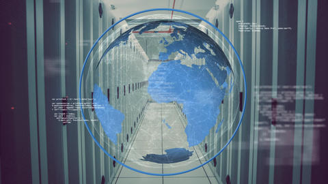 Globe and digital information Animation