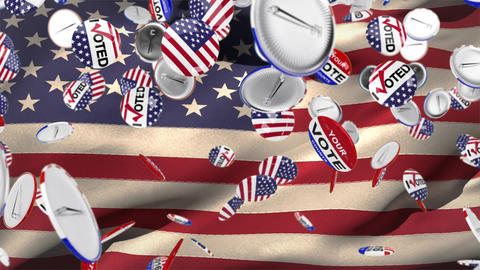 American Election Vote Pins Animation