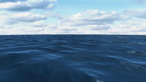 Calm ocean and the sky Animation