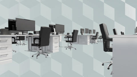 Office desk and computers Animation