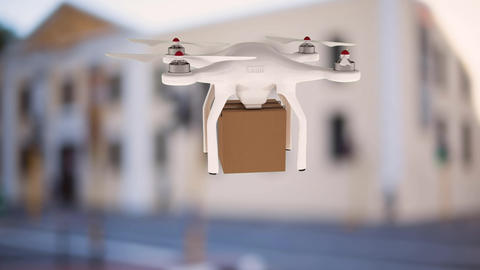 Drone carrying a box Animation
