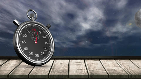 Stopwatch and the sky Animation