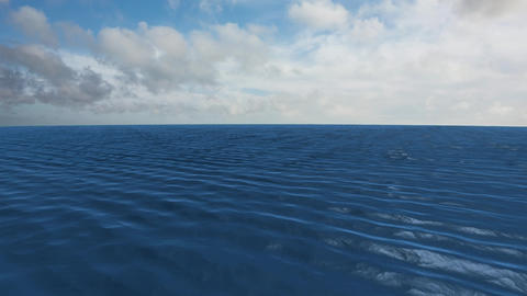 Calm ocean and the sky Animation
