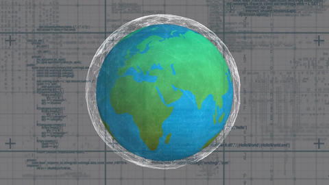 Earth with clear outline Animation