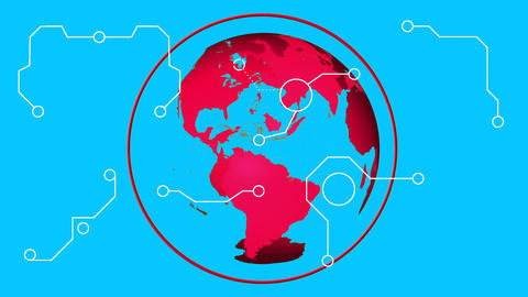 Rotating globe Animation