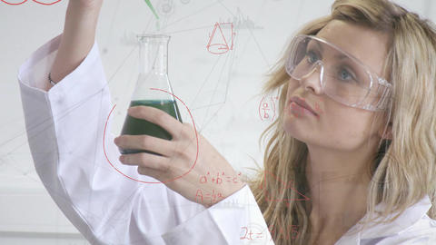 Scientist mixing chemicals Animation
