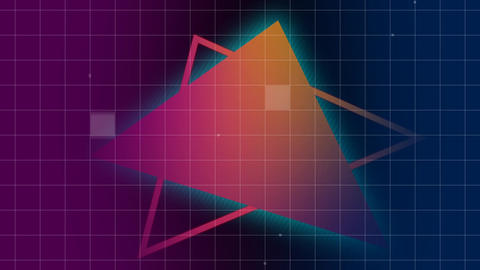 Digital triangles Animation