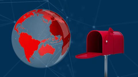 Globe and mailbox Animation