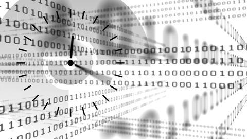 Clock and binary codes Animation