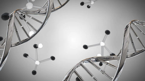 DNA double helix and molecule models Stock Video Footage