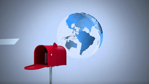 Sending mail internationally Animation