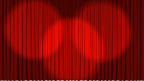 Theatre curtains revealing a valentines gift Animation