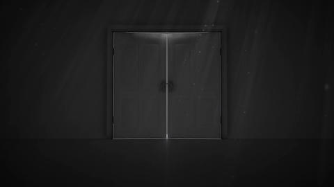 Double doors opening to arrows Animation