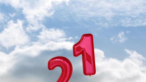 Twenty One birthday balloons Animation