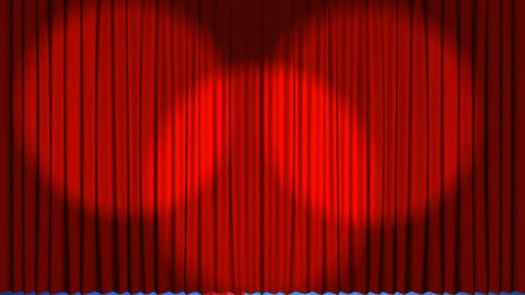 Theatre curtains revealing a number 21 balloon Animation