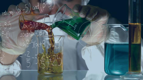 Chemist mixing chemicals Animation
