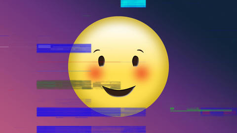 Happy face emoji Animation