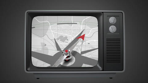 Television with a compass Animation