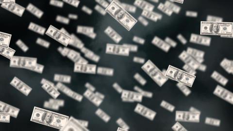 Flying dollar bills Animation