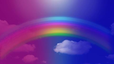 Rainbow on a bright blue sky Animation
