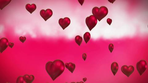 Valentines heart balloons Animation