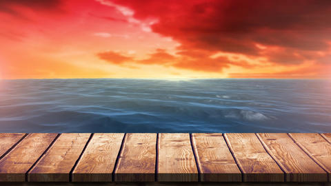 Sunset in the sea Animation