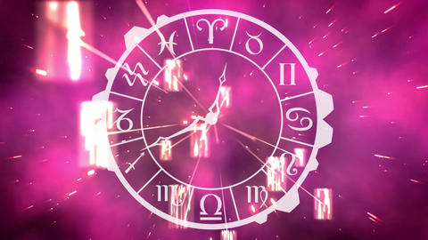 Zodiac sign clock Animation