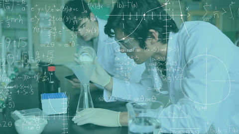 Chemists studying in a lab Animation