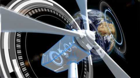 Wind mill and the earth Animation