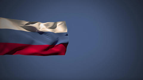 Russian flag Animation