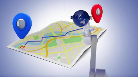 Robot arm holding a globe Animation