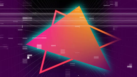 Colorful triangles with noise Animation