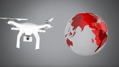 Global drone surveillance Animation