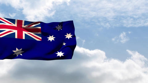 Flag of Australia waving Animation