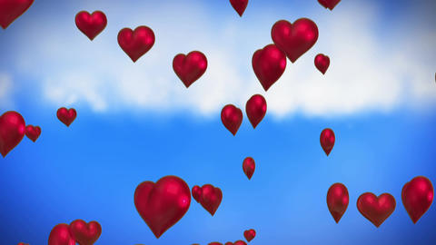 Heart balloons Animation