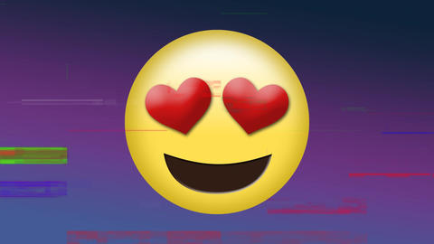 Smiling face with heart shaped eyes Animation