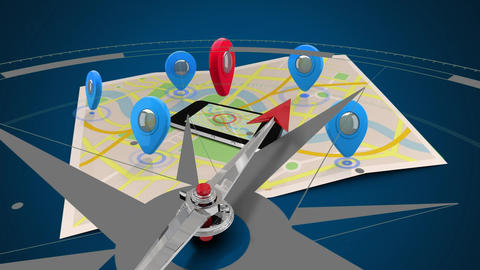Google map with compass Animation
