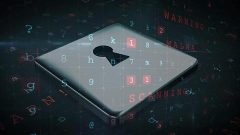 Cyberspace lock 4k Animation