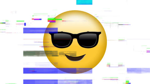 Smiling face with sunglasses emoji Animation