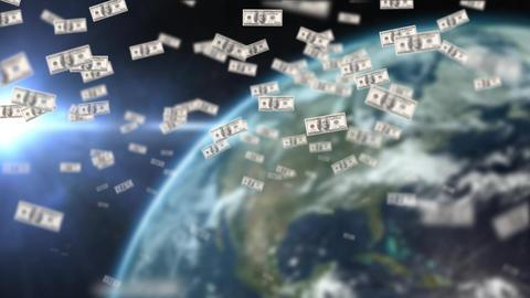 Dollars floating Animation