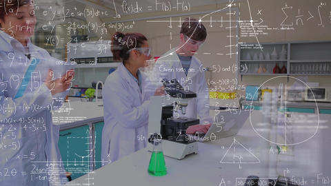 Scientists studying in a lab Animation