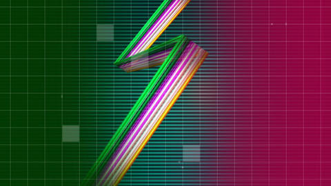 Zigzag strands of colors Animation