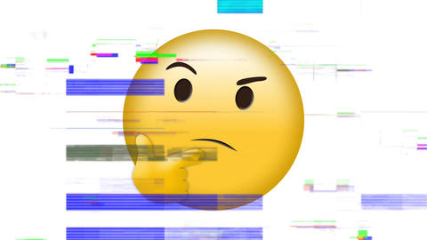 Thinking face emoji Animation