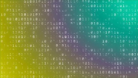 binerar number on colorful backfround Animation