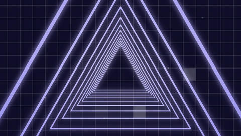 Moving through a triangle tunnel Animation