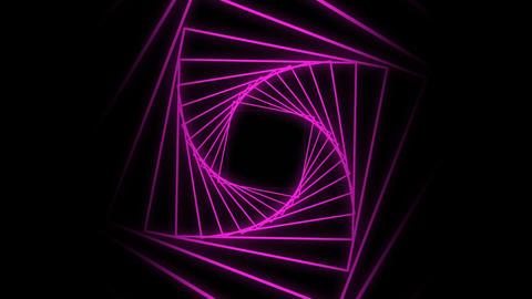 Digital twisted tunnel Animation