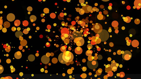 Glittering bokeh effect against black background Animation