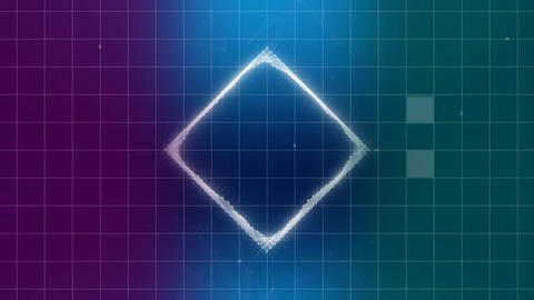Digital cube geometric shape Animation
